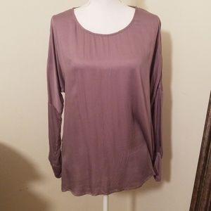 Other - Gray batwing long sleeve blouse